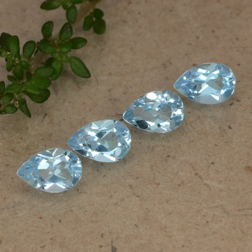 Sky Blue Topaz Gem - 0.6ct Pear Facet (ID: 478217)