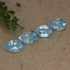 Sky Blue Topaz Gem - 0.5ct Pear Facet (ID: 478219)