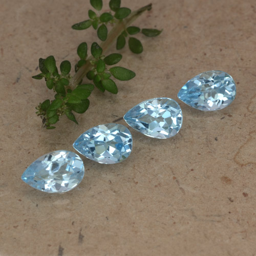Sky Blue Topaz Gem - 0.5ct Pear Facet (ID: 478224)