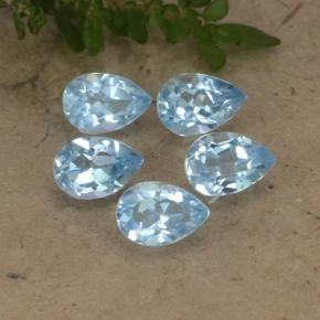 Sky Blue Topaz Gem - 0.6ct Pear Facet (ID: 478331)