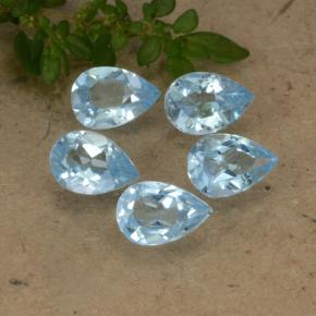 Sky Blue Topaz Gem - 0.5ct Pear Facet (ID: 478333)