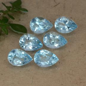 Sky Blue Topaz Gem - 0.9ct Pear Facet (ID: 478346)