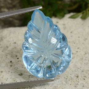 Light Cyan Blue Topacio Gema - 11.6ct Leaf de fantasía tallada (ID: 479801)