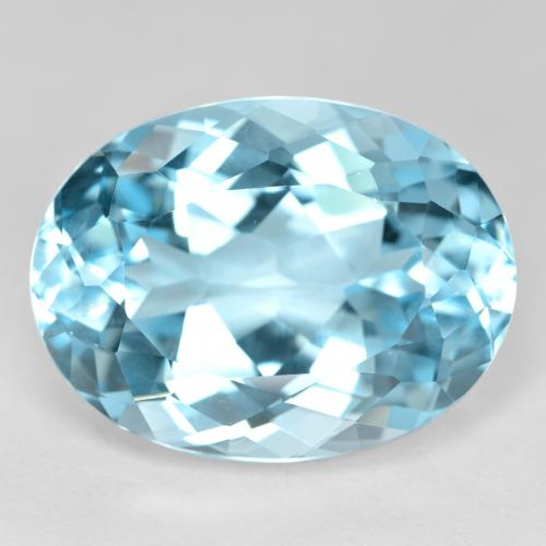 22.9ct Oval Facet Swiss Blue Topaz Gem (ID: 480013)