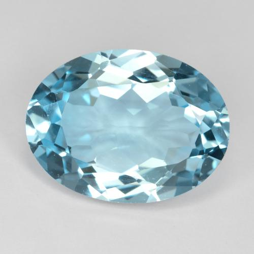 20.5ct Oval Facet Swiss Blue Topaz Gem (ID: 480017)