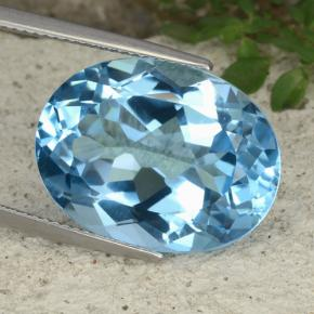 Swiss Blue Topaz Gem - 22.4ct Oval Facet (ID: 480020)