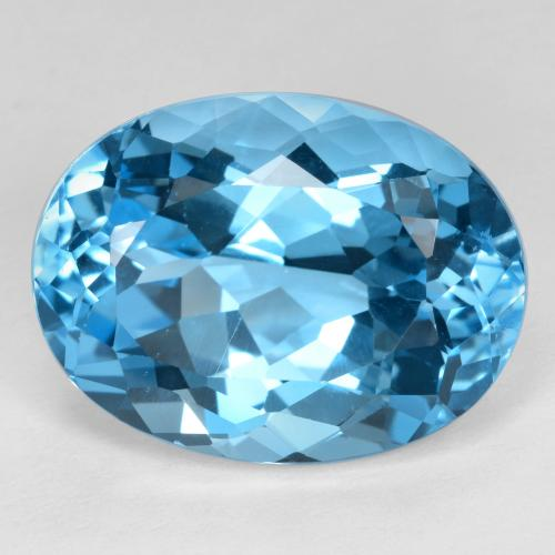 Swiss Blue Topaz Gem - 23ct Oval Facet (ID: 480113)
