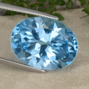 Swiss Blue Topaz Gem - 20ct Oval Facet (ID: 480204)