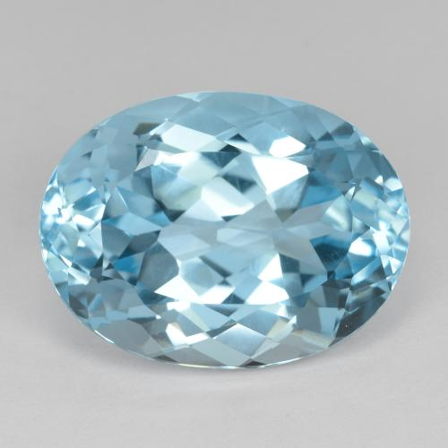 Swiss Blue Topaz Gem - 23.9ct Oval Facet (ID: 480210)