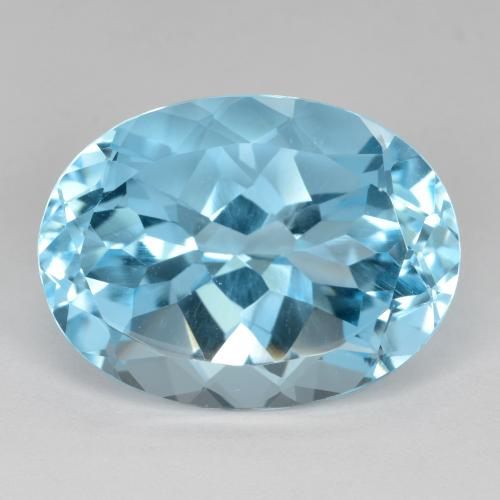 22.8ct Oval Facet Swiss Blue Topaz Gem (ID: 480211)