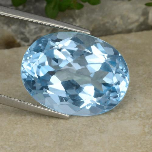 21.8ct Oval Facet Swiss Blue Topaz Gem (ID: 480215)