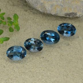 thumb image of 3.9ct Oval Facet London Blue Topaz (ID: 480539)