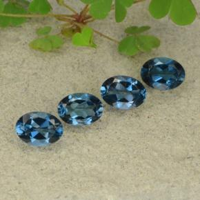 London Blue Topaz Gem - 1ct Oval Facet (ID: 480619)