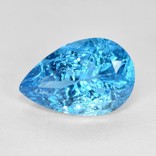 Blu Topazio Gem - 6.9ct Pear Concave Fantasy Cut (ID: 486038)
