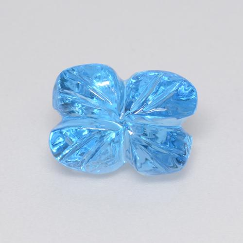 スイスブルー トパーズ Gem - 5.1ct Fantasy Carved Leaf (ID: 486125)