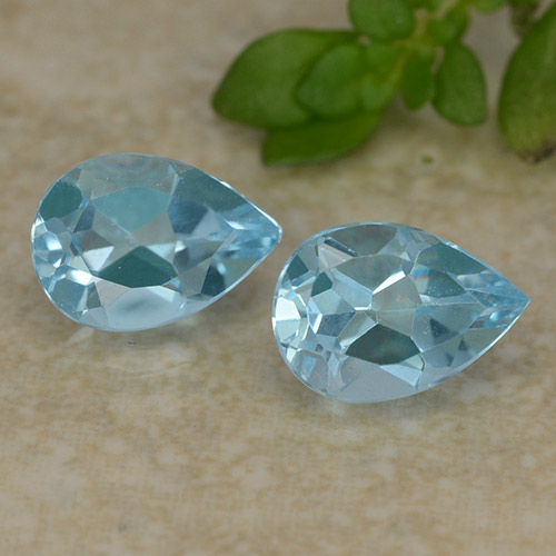 Sky Blue Topaz Gem - 0.9ct Pear Facet (ID: 487069)