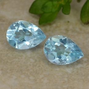Sky Blue Topaz Gem - 0.9ct Pear Facet (ID: 487071)