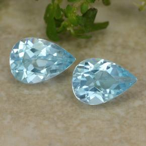 Sky Blue Topaz Gem - 0.8ct Pear Facet (ID: 487076)