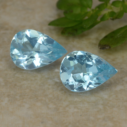 Sky Blue Topaz Gem - 0.7ct Pear Facet (ID: 487077)