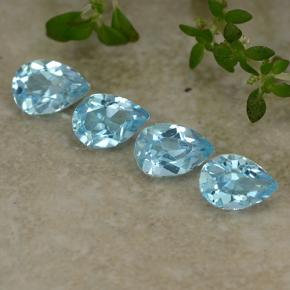 Sky Blue Topaz Gem - 0.5ct Pear Facet (ID: 487115)