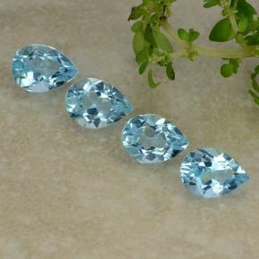 Sky Blue Topaz Gem - 0.9ct Pear Facet (ID: 487212)