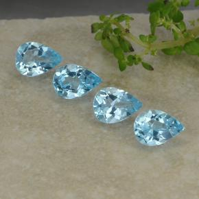 Sky Blue Topaz Gem - 0.8ct Pear Facet (ID: 487219)