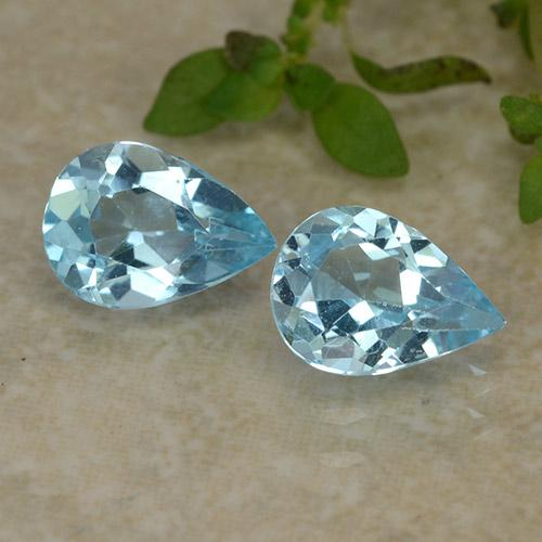 Sky Blue Topaz Gem - 0.7ct Pear Facet (ID: 487271)
