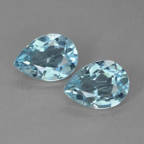 Sky Blue Topaz Gem - 0.9ct Pear Facet (ID: 487272)