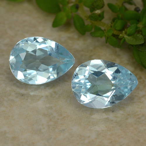 Sky Blue Topaz Gem - 0.9ct Pear Facet (ID: 487276)