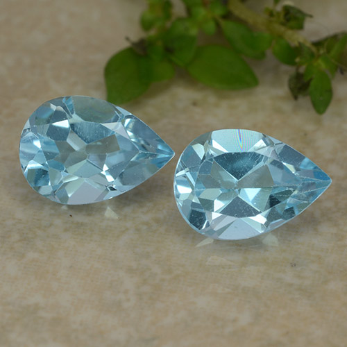 Sky Blue Topaz Gem - 0.9ct Pear Facet (ID: 487279)
