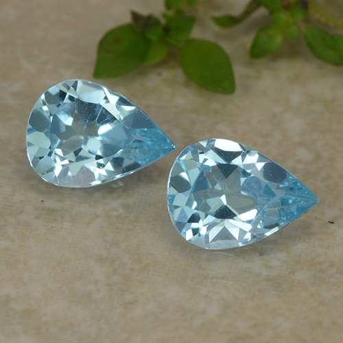 Sky Blue Topaz Gem - 0.8ct Pear Facet (ID: 487282)