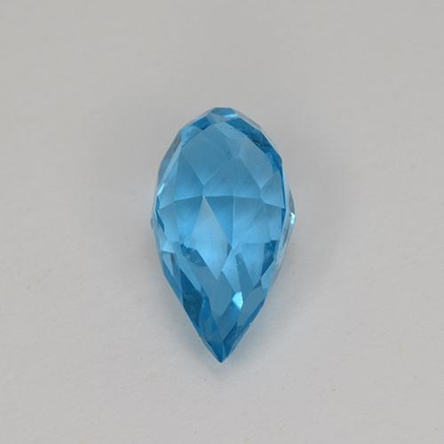 Swiss Blue Topaz Gem - 2.6ct Undrilled Briolette Teardrop (ID: 487355)