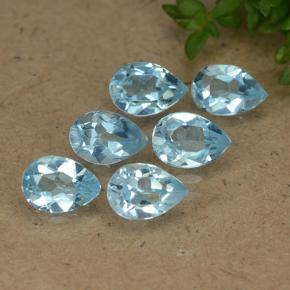 Sky Blue Topaz Gem - 0.5ct Pear Facet (ID: 488127)