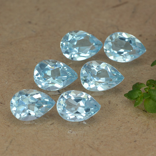 Sky Blue Topaz Gem - 0.5ct Pear Facet (ID: 488132)