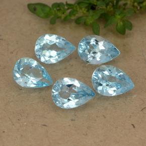 Sky Blue Topaz Gem - 0.8ct Pear Facet (ID: 488235)