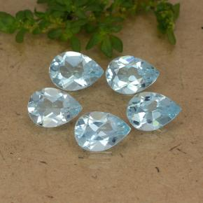 Sky Blue Topaz Gem - 0.7ct Pear Facet (ID: 488240)
