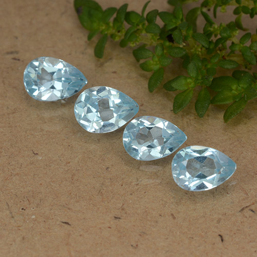 Sky Blue Topaz Gem - 0.5ct Pear Facet (ID: 488438)