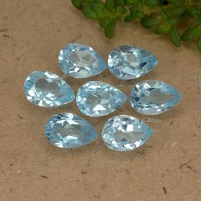 Sky Blue Topaz Gem - 0.5ct Pear Facet (ID: 488441)