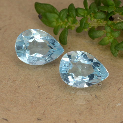 Baby Blue Topaz Gem - 0.8ct Pear Facet (ID: 488447)