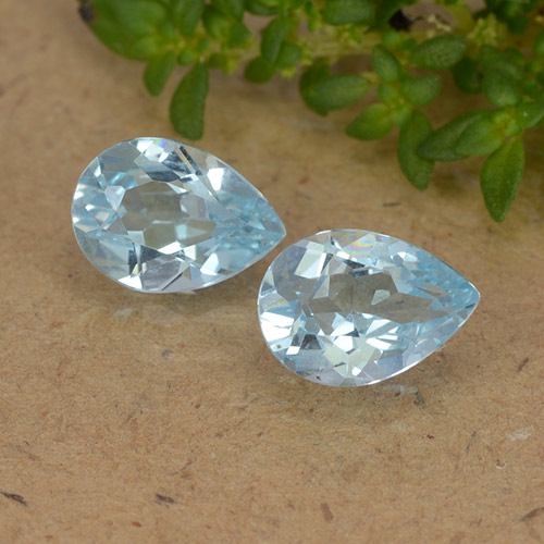 Sky Blue Topaz Gem - 0.8ct Pear Facet (ID: 488449)