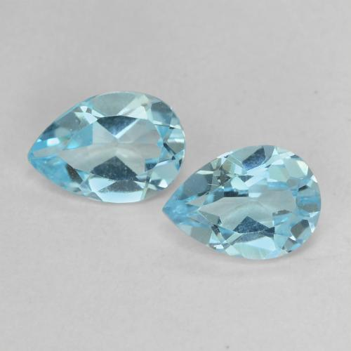 Baby Blue Topaz Gem - 0.8ct Pear Facet (ID: 488451)