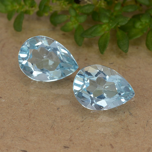 Sky Blue Topaz Gem - 0.9ct Pear Facet (ID: 488457)