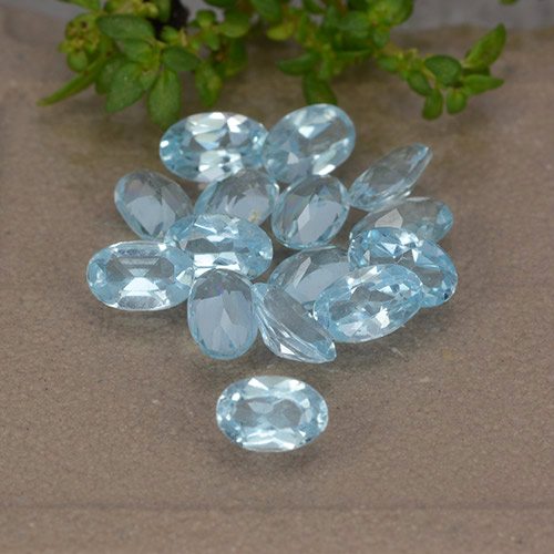 Sky Blue Topaz Gem - 0.3ct Oval Facet (ID: 489013)