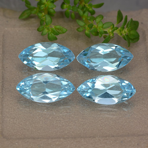 Sky Blue Topaz Gem - 1.3ct Marquise Facet (ID: 489024)