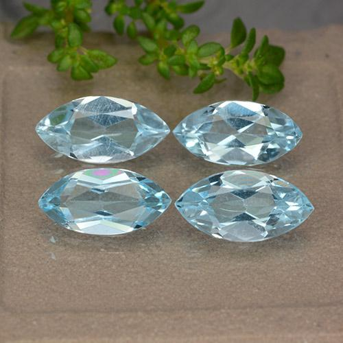 Sky Blue Topaz Gem - 1.2ct Marquise Facet (ID: 489025)
