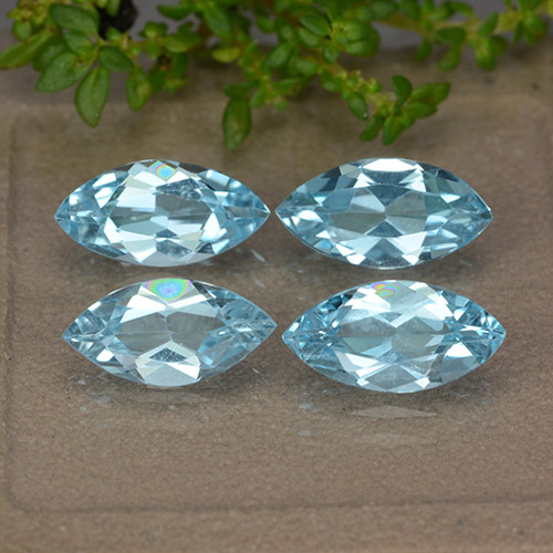 Sky Blue Topaz Gem - 1.2ct Marquise Facet (ID: 489028)