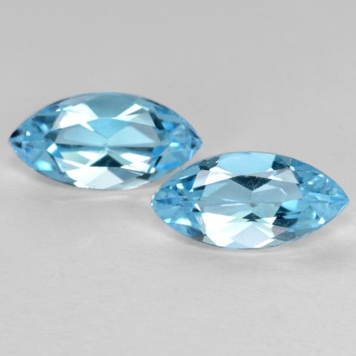 Sky Blue Topaz Gem - 1.3ct Marquise Facet (ID: 489081)