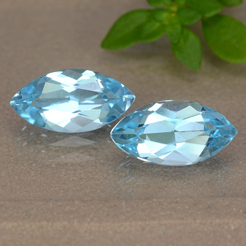Sky Blue Topaz Gem - 1.2ct Marquise Facet (ID: 489083)
