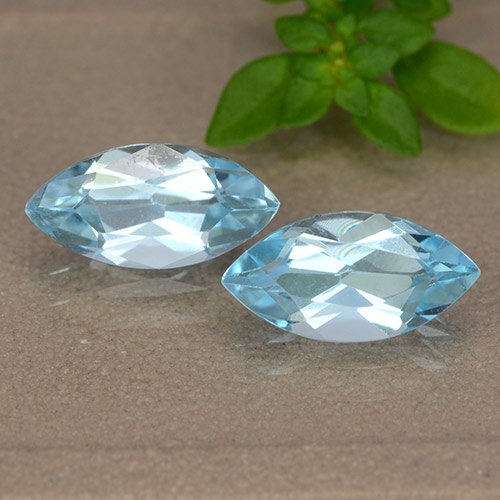Sky Blue Topaz Gem - 1.3ct Marquise Facet (ID: 489084)