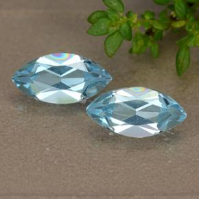 Sky Blue Topaz Gem - 1.3ct Marquise Facet (ID: 489086)